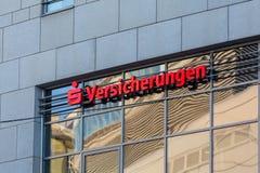 Sparkasse versicherungen sign in bochum germany stock photo