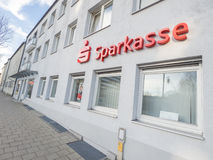 Sparkasse wide-angle Royalty Free Stock Images