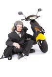 sparkcykel för affärsman arkivfoton