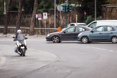 Sparkcykel i staden royaltyfri bild