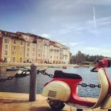 Italiensk sparkcykel Fotografering för Bildbyråer
