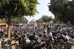 Sparkcykel som parkeras i Jaipur Royaltyfria Bilder