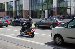 Sparkcykel - stads- transport Royaltyfri Foto