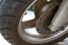 Sparkcykelhjul med bromsar Royaltyfri Bild