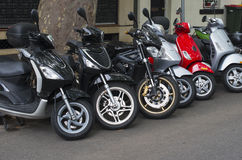 Sparkcykelparkering Fotografering för Bildbyråer