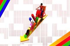 sparkcykelpil för kvinnor 3d - grafillustration Royaltyfri Bild