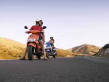 sparkcykeltur arkivbild
