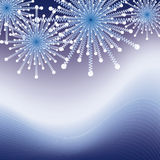 Sparkeling blue fire works. In the dark sky nice for backgrounds Stock Photography