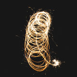 Sparkelr Squiggle Shapes Royalty Free Stock Images