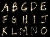 Sparking Alphabet AtoO Royalty Free Stock Photo