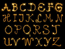 Sparking alphabet Royalty Free Stock Images