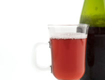 Sparking apple cranberry Stock Image