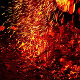 Sparking fire Royalty Free Stock Photos