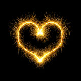 Sparking heart Royalty Free Stock Photography