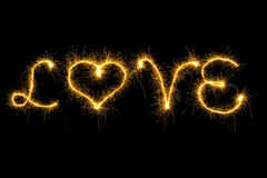 Sparking love Stock Photography