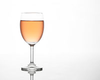 The sparking rose wine in the wine glass Royalty Free Stock Image