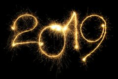 Sparking 2019 Year royalty free stock images