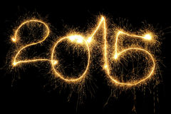 Sparking 2015 Year Royalty Free Stock Photo
