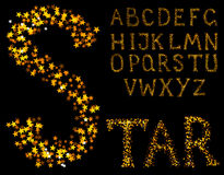 sparkle алфавита Стоковое фото RF