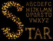 Sparkle alphabet Royalty Free Stock Photo