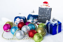 Sparkle ball decorations for a Christmas day Royalty Free Stock Photo