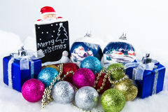 Sparkle ball decorations for a Christmas day Stock Images