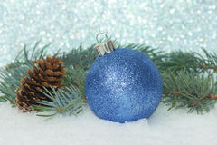 Sparkle Ball On Snow Stock Photography