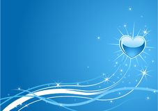 Sparkle  blue  background Stock Photos