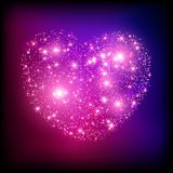 Sparkle bright pink heart. Royalty Free Stock Photography