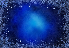 Sparkle christmas background with snowflakes and star an Stock Photography