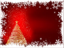 Sparkle christmas tree Royalty Free Stock Images
