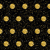 Sparkle circles seamless pattern background. Stock Images
