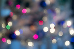 Sparkle. Colored christmas lights blurred softly royalty free stock photos