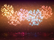Sparkle colorful fireworks design,. Background abstract vector Royalty Free Stock Images
