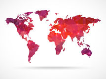 Sparkle diamond vector world map Stock Image