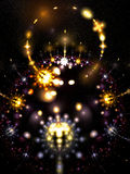 Sparkle and fade. Explosions occurring in outer space that look similar to fireworks Stock Image