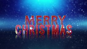 Sparkle Filled Merry Christmas Happy New Year Greeting. This video features a blue particle filled background with a Merry Christmas Happy New year message in a