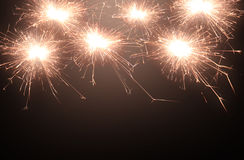 Sparkle firework Stock Images