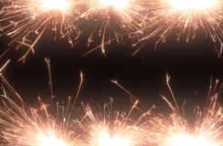 Sparkle firework Stock Images