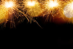 Sparkle firework on black Royalty Free Stock Photos