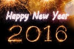 2016 Sparkle firework text Stock Photography