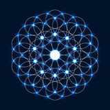 Sparkle Flower of Life Stock Image