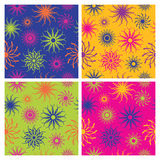 Sparkle Flower Pattern in Brights Royalty Free Stock Photos
