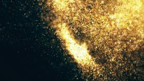Sparkling flow abstract background. Sparkle glitter, stars and sparkling flow abstract background Stock Photo
