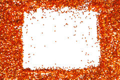 Sparkle glittering frame Royalty Free Stock Photo