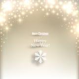 Sparkle golden christmas background. Royalty Free Stock Photos