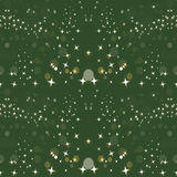 Sparkle Green Gold Holiday Seamless Background Pattern royalty free illustration