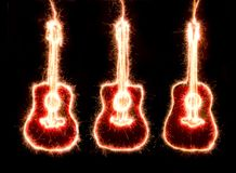 Sparkle guitars Stock Images