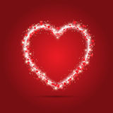 Sparkle heart background Stock Images