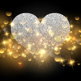 Sparkle heart design for Valentine's Day Royalty Free Stock Photo